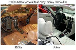Vinyl műszerfal felújító spray